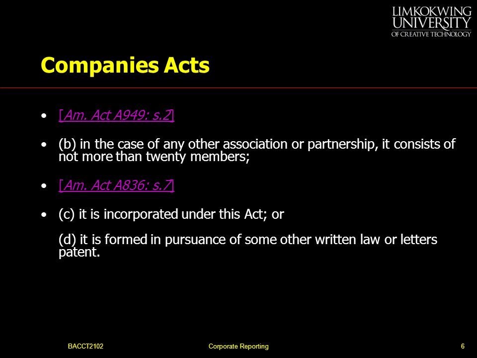 Companies Acts [Am. Act A949: s.2]
